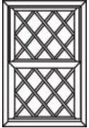 Diamond Double Hung Window