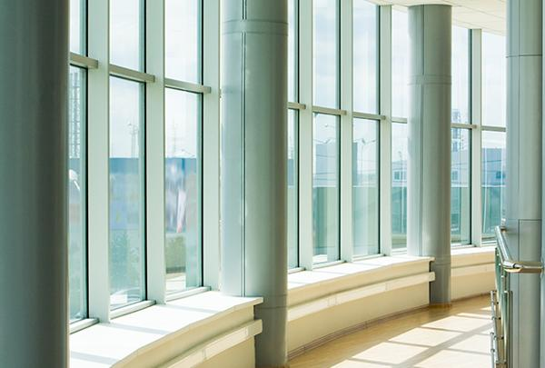 Aluminum Windows in a commercial building.