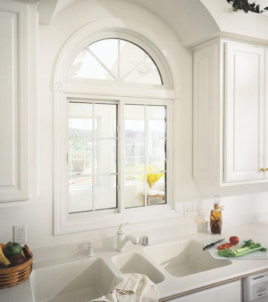 Custom windows in a kitchen.