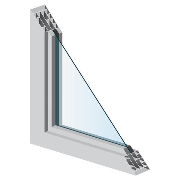 Single Window Pane Cut-away