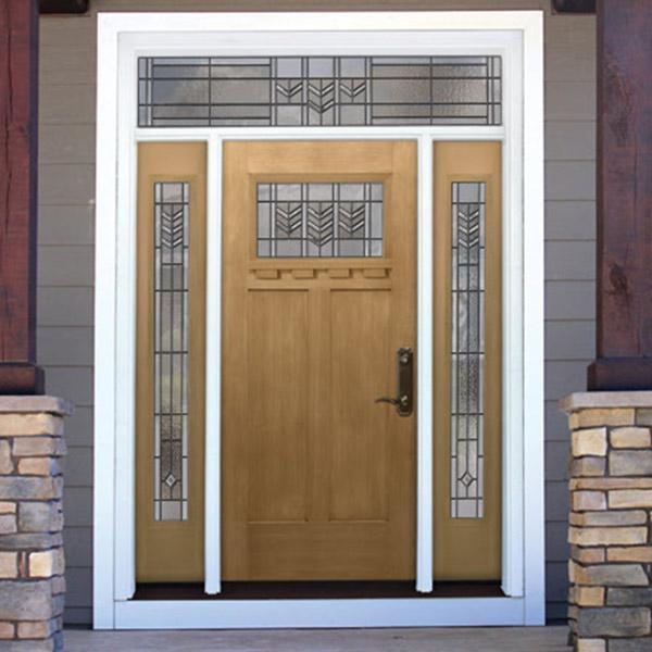 Front Door in Wake Forest with Decorative Glass
